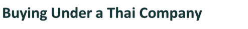 Buying Under a Thai Company